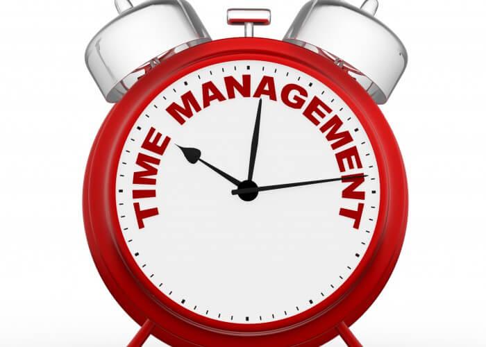 3d time to management. Concept clock closeup. 3d render