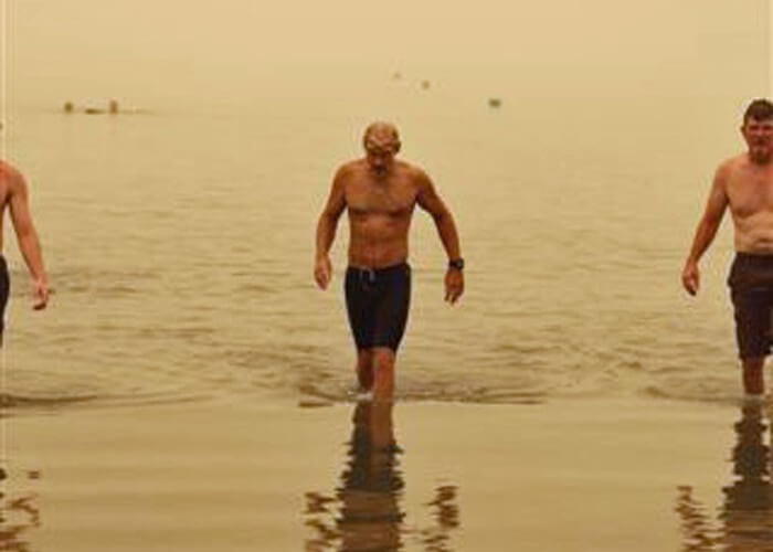 Bill Welzien at Sea of Galilee finish