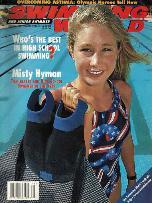 Swimming World Magazine August 1996 Issue- PDF ONLY - Cover
