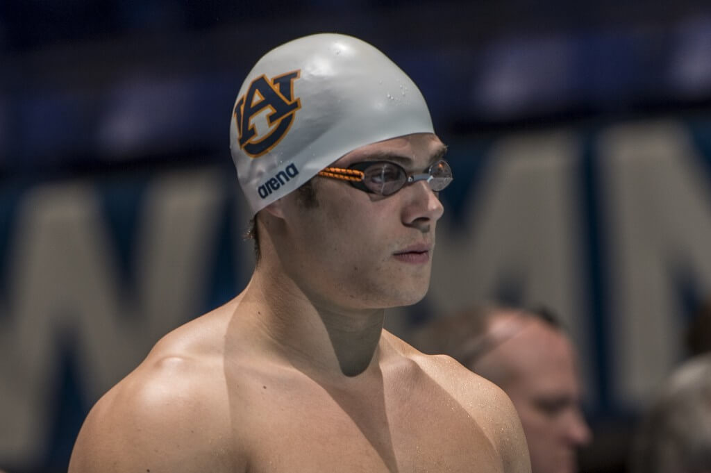 Marcelo Chierghini places second in the prelims of the 50 freestyle.