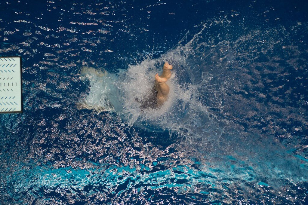 KNOXVILLE, TN - August 17, 2014: Michole Timm during the 2014 USA Senior Diving National Event Finals at Allan Jones Aquatic Center in Knoxville, TN. Photo By Matthew S. DeMaria