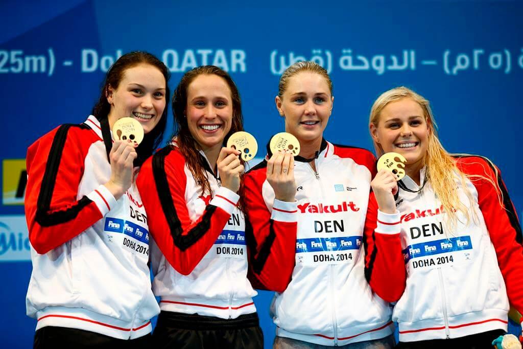 Denmark 200 Medley Relay World Record Doha 2014