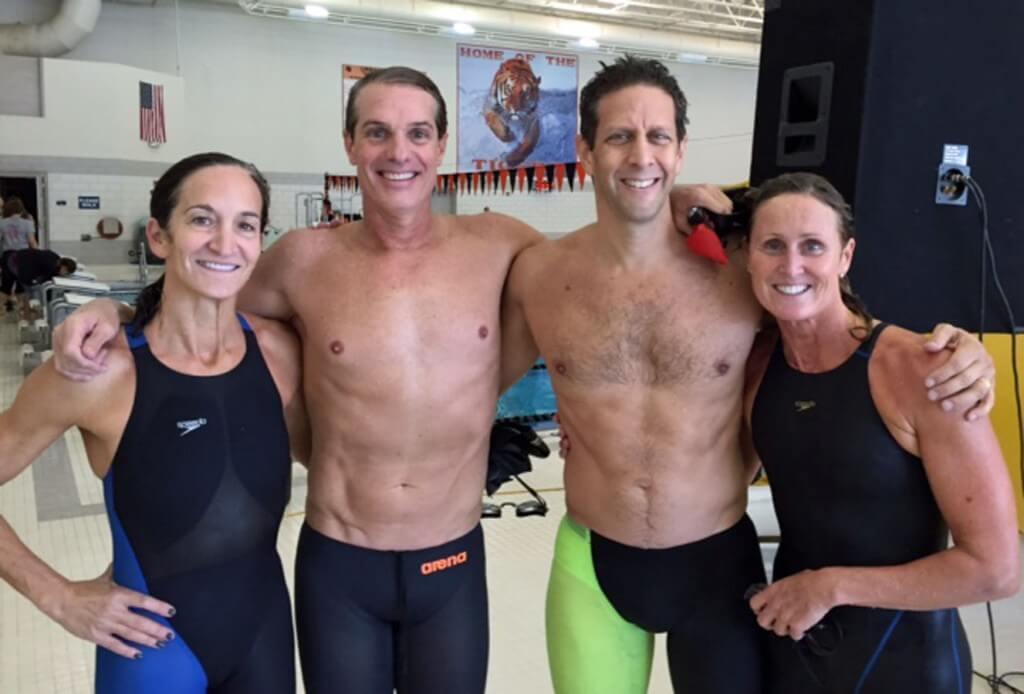 Illinois Masters world record relay team