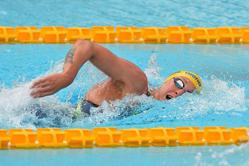 Gian Mattia D'Alberto / lapresse Roma sport nuoto trofeo Settecolli nella foto: Sarah Sjostrom SWE Gian Mattia D'Alberto / lapresse Rome in the photo: Sarah Sjostrom SWE