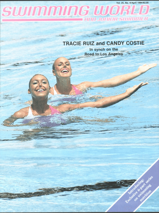 Swimming World Magazine April 1984 Issue- PDF ONLY - Cover