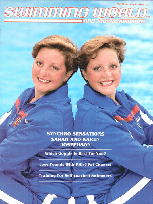 Swimming World Magazine April 1986 Issue- PDF ONLY - Cover