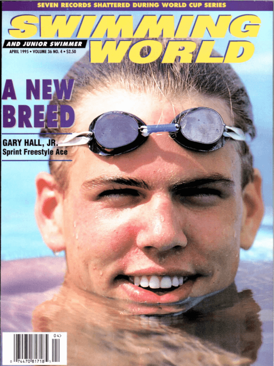 Swimming World Magazine April 1995 Issue- PDF ONLY - Cover