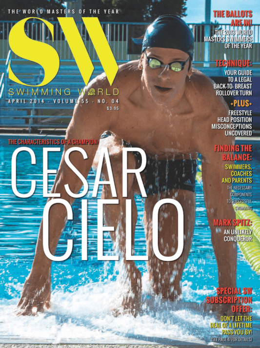 Swimming World Magazine April 2014 Issue- PDF ONLY - Cover