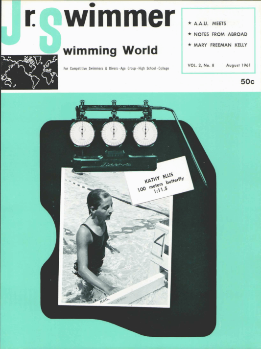 Swimming World Magazine August 1961 Issue- PDF ONLY - Cover