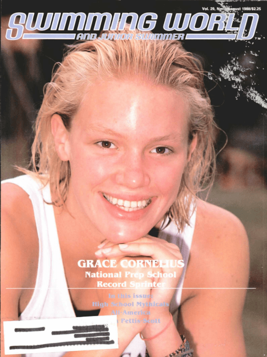 Swimming World Magazine August 1988 Issue- PDF ONLY - Cover