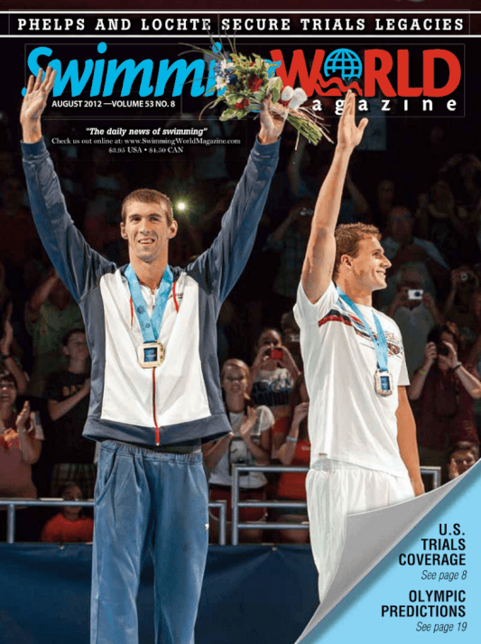 Swimming World Magazine August 2012 Issue- PDF ONLY - Cover