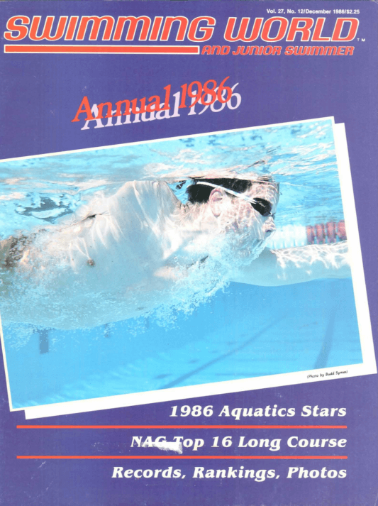 Swimming World Magazine December 1986 Issue- PDF ONLY - Cover