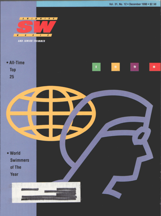 Swimming World Magazine December 1990 Issue- PDF ONLY - Cover