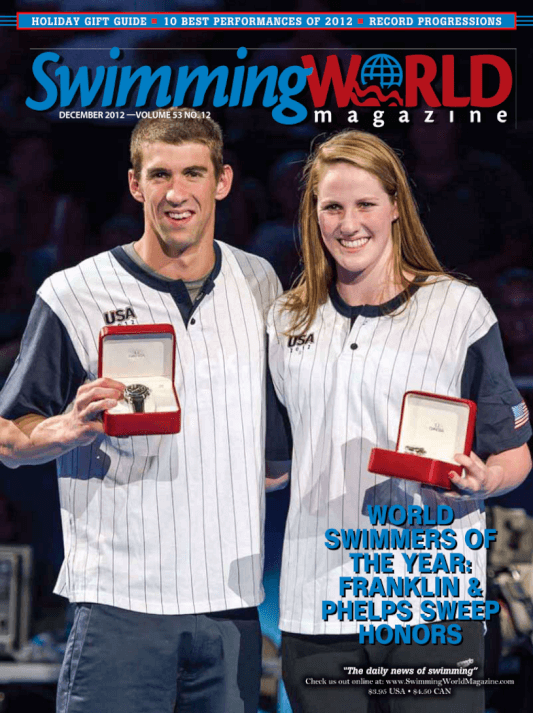 Swimming World Magazine December 2012 Issue- PDF ONLY - Cover