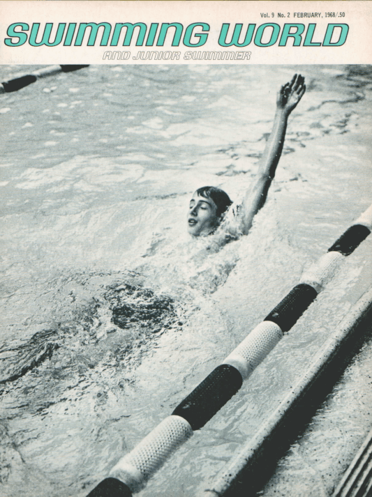 Swimming World Magazine February 1968 Issue- PDF ONLY - Cover