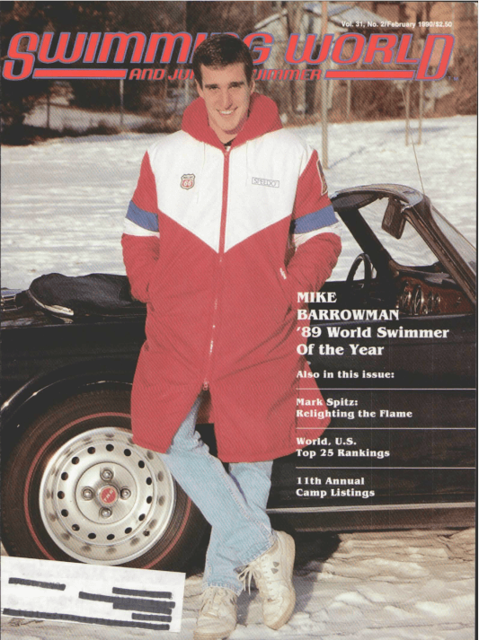 Swimming World Magazine February 1990 Issue- PDF ONLY - Cover