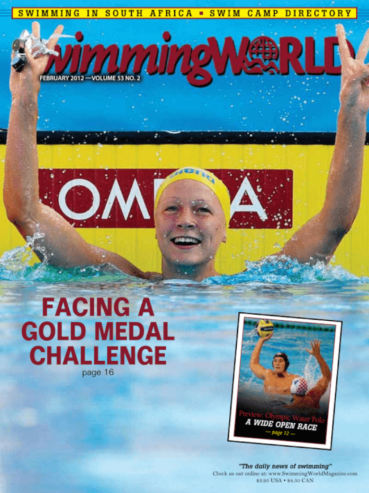 Swimming World Magazine February 2012 Issue- PDF ONLY - Cover