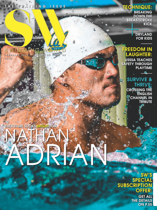 Swimming World Magazine February 2014 Issue- PDF ONLY - Cover