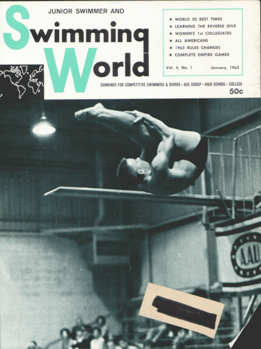 Swimming World Magazine January 1963 Issue- PDF ONLY - Cover