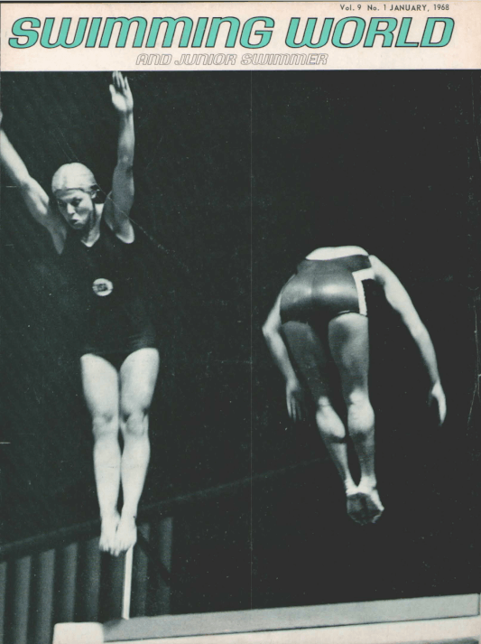 Swimming World Magazine January 1968 Issue- PDF ONLY - Cover