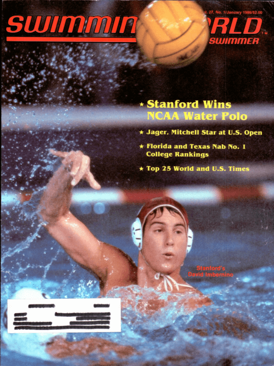 Swimming World Magazine January 1986 Issue- PDF ONLY - Cover