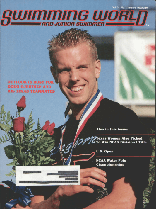 Swimming World Magazine January 1990 Issue- PDF ONLY - Cover