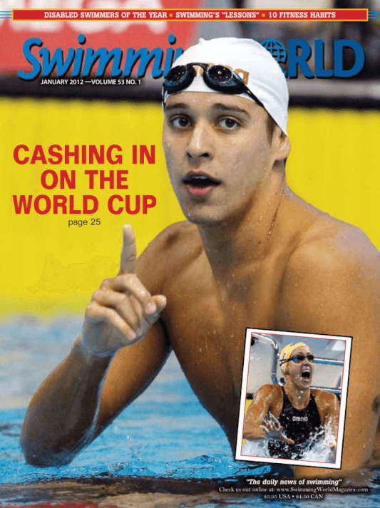 Swimming World Magazine January 2012 Issue- PDF ONLY - Cover