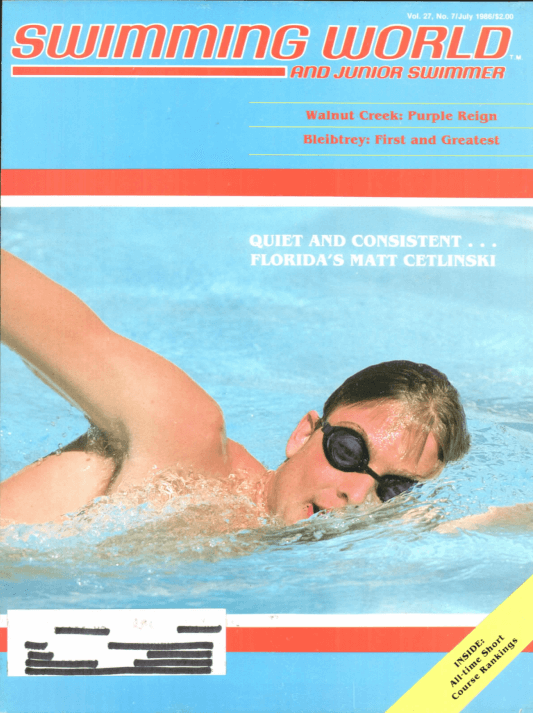 Swimming World Magazine July 1986 Issue- PDF ONLY - Cover