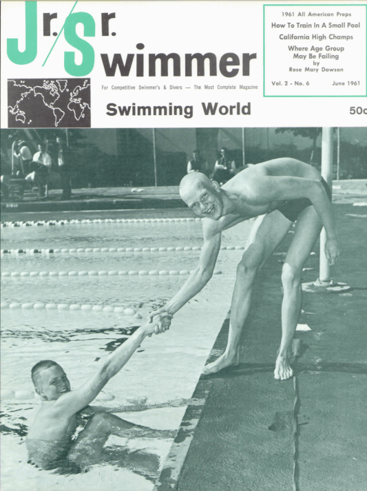 Swimming World Magazine June 1961 Issue- PDF ONLY - Cover