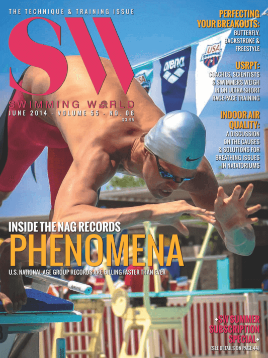 Swimming World Magazine June 2014 Issue- PDF ONLY - Cover