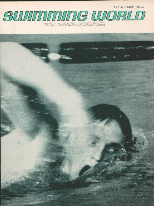 Swimming World Magazine March 1968 Issue- PDF ONLY - Cover