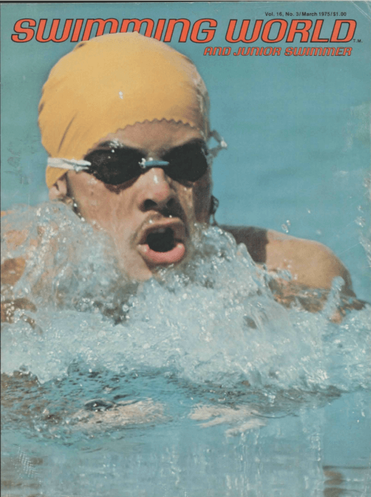Swimming World Magazine March 1975 Issue- PDF ONLY - Cover