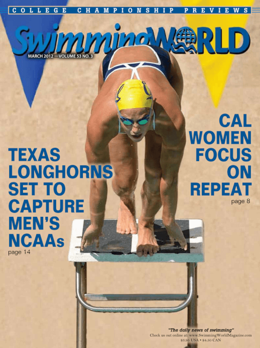 Swimming World Magazine March 2012 Issue- PDF ONLY - Cover