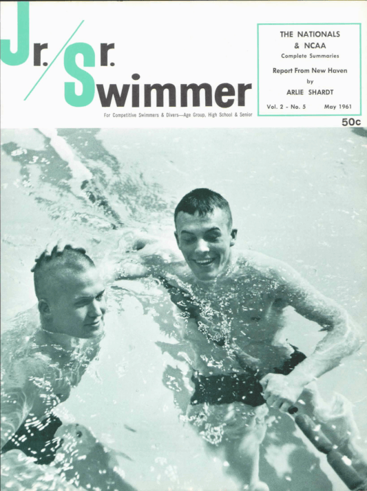 Swimming World Magazine May 1961 Issue- PDF ONLY - Cover