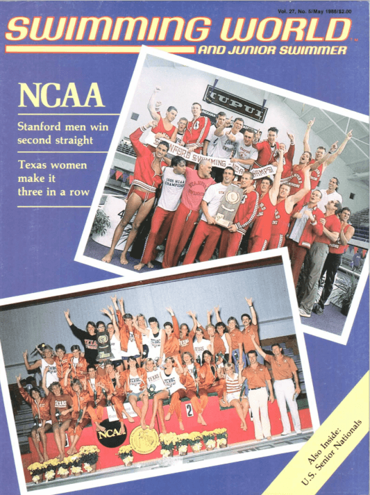 Swimming World Magazine May 1986 Issue- PDF ONLY - Cover