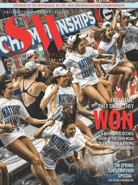 Swimming World Magazine May 2014 Issue- PDF ONLY - Cover