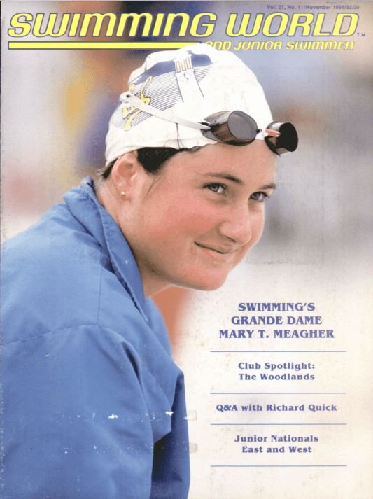Swimming World Magazine November 1986 Issue- PDF ONLY - Cover