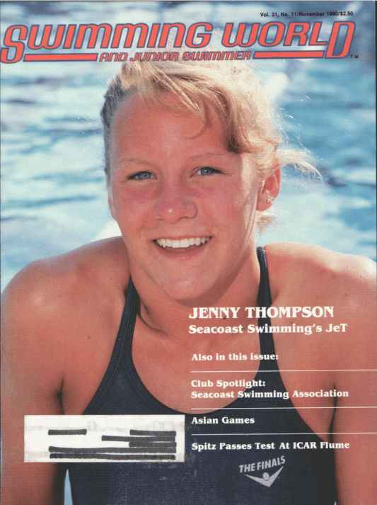 Swimming World Magazine November 1990 Issue- PDF ONLY - Cover