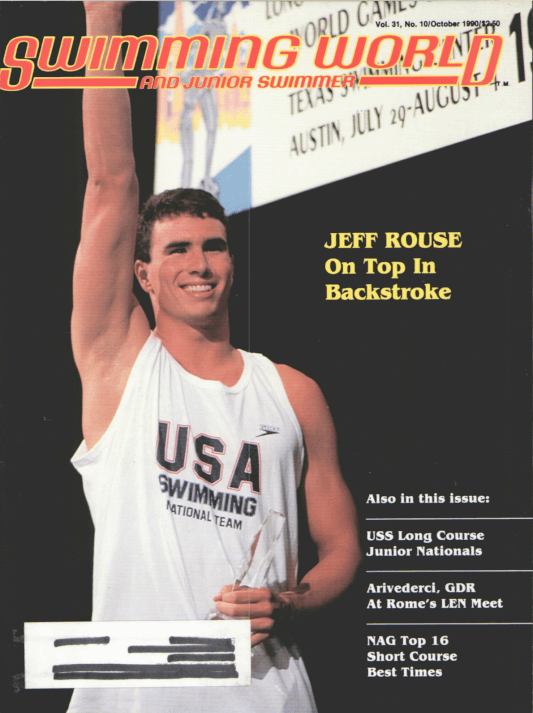 Swimming World Magazine October 1990 Issue- PDF ONLY - Cover