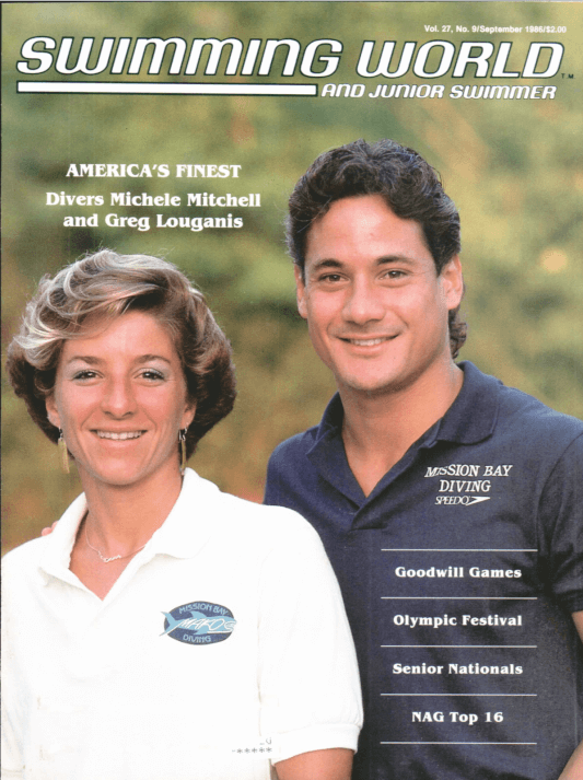 Swimming World Magazine September 1986 Issue- PDF ONLY - Cover