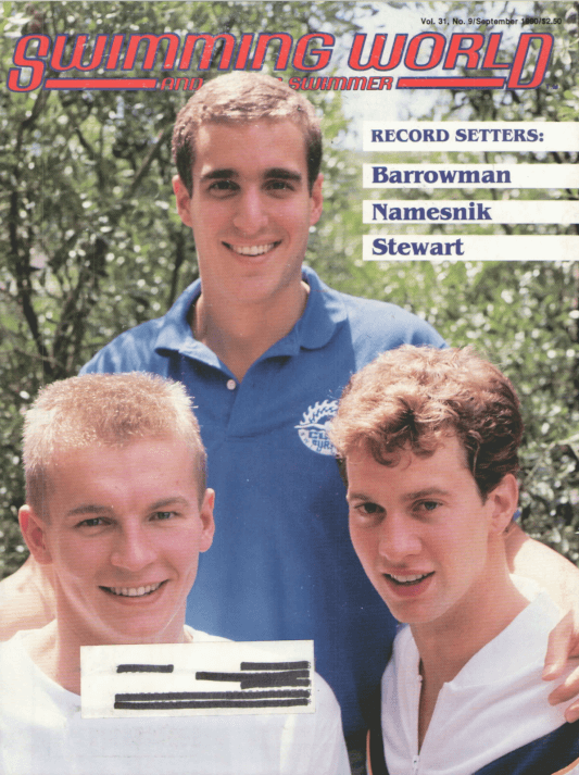 Swimming World Magazine September 1990 Issue- PDF ONLY - Cover