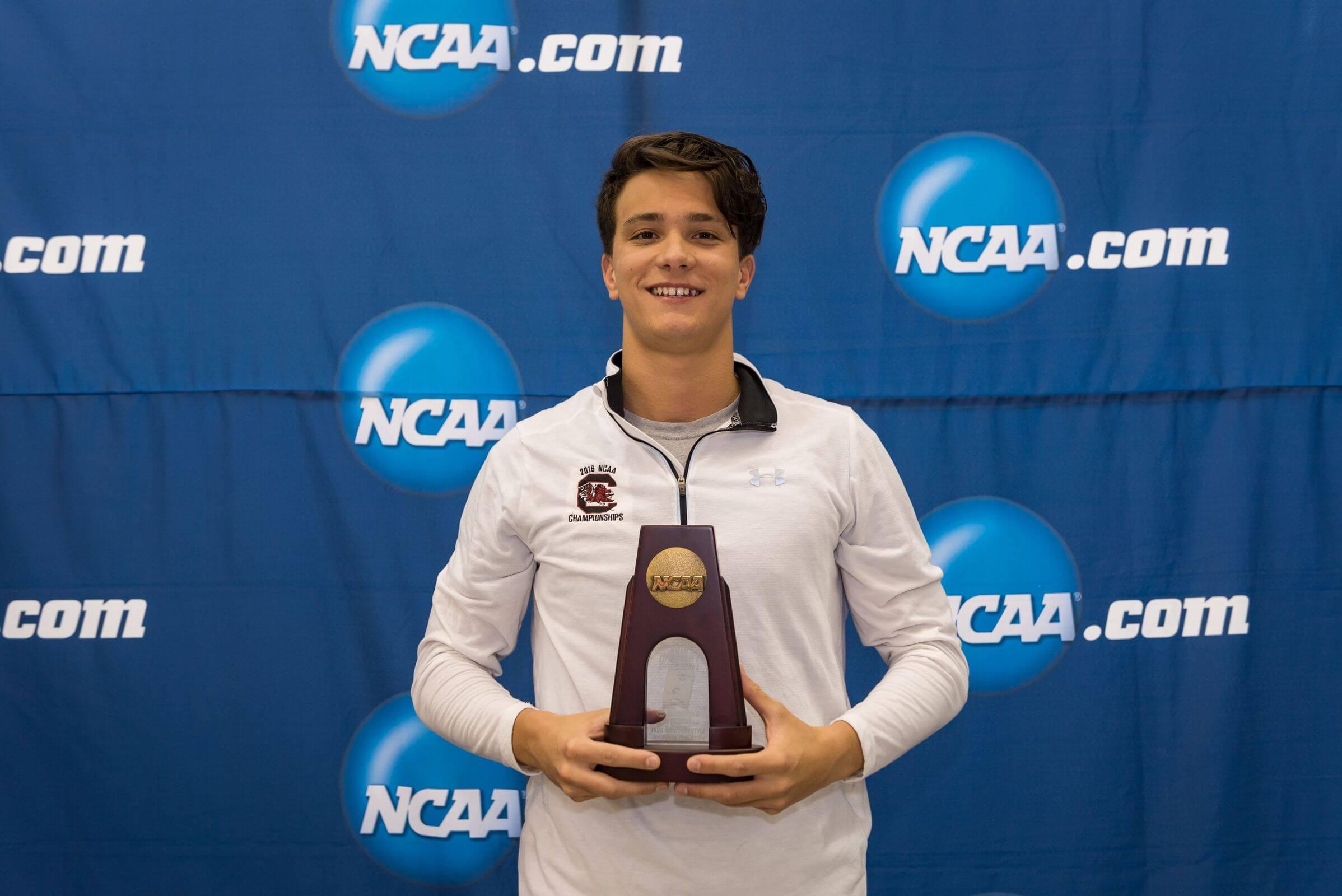 2016.03.26 NCAA Mens Swimming Championships_Reagan_South Carolina Tom Peribonio