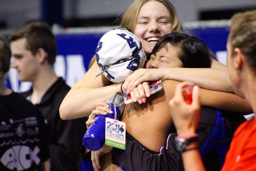 amalie-fackenthal-hugging-teammates-at-2016-ncsa-juniors