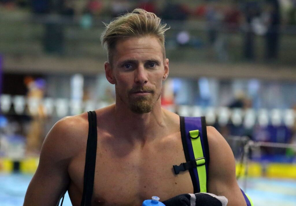 DURBAN, SOUTH AFRICA - APRIL 10: Roland Schoeman during the finals session on day 1 of the SA National Aquatic Championships and Olympic Trials on April 10 , 2016 at the Kings Park Aquatic Center pool in Durban, South Africa. Photo Credit / Anesh Debiky/Swim SA