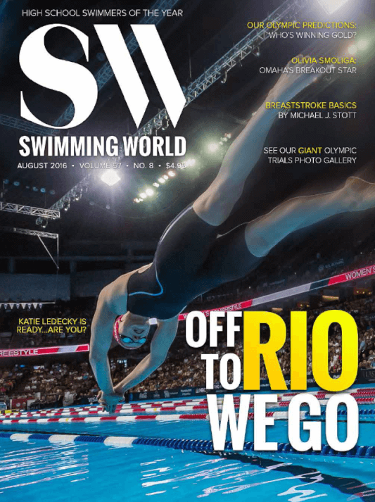 Swimming World Magazine August 2016 Issue--PDF ONLY - Cover