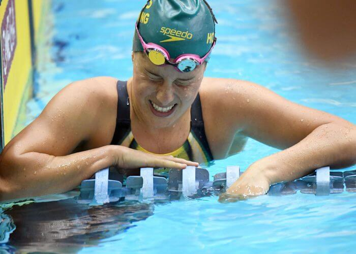 Belinda Hocking showing the strain of another hard set of training. University of Auburn Aquatic Centre, Alabama USA. Australian Olympic Swimming Team are in their final training staging Camp before heading over to the Rio2016 Olympic Games. July 29 2016. Photo by Delly Carr. Pic credit mandatory for complimentary exclusive editorial usage. Thank You.