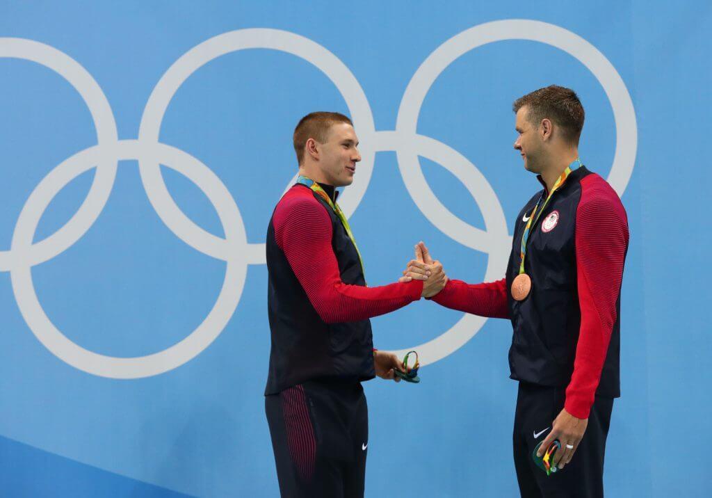 murphy-plummer-handshake-american-backstroke-legacy-podium-100bk-rio - swimmers
