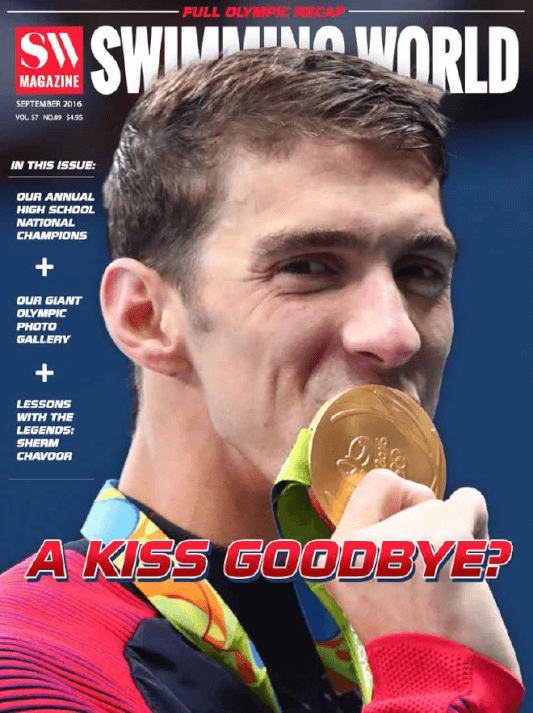 Swimming World Magazine September 2016 Issue--PDF ONLY - Cover