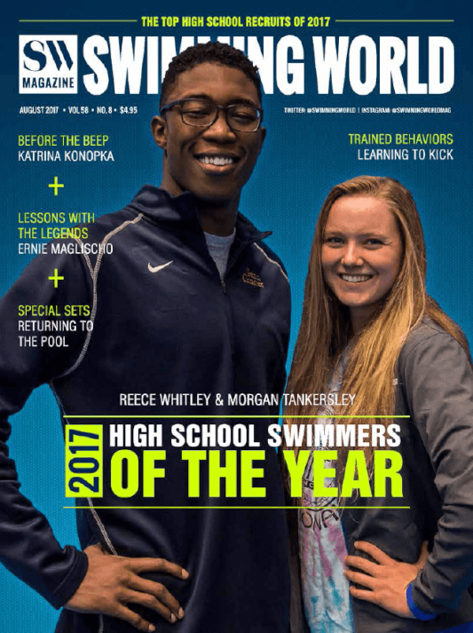 Swimming World Magazine August 2017 Issue--PDF ONLY - Cover