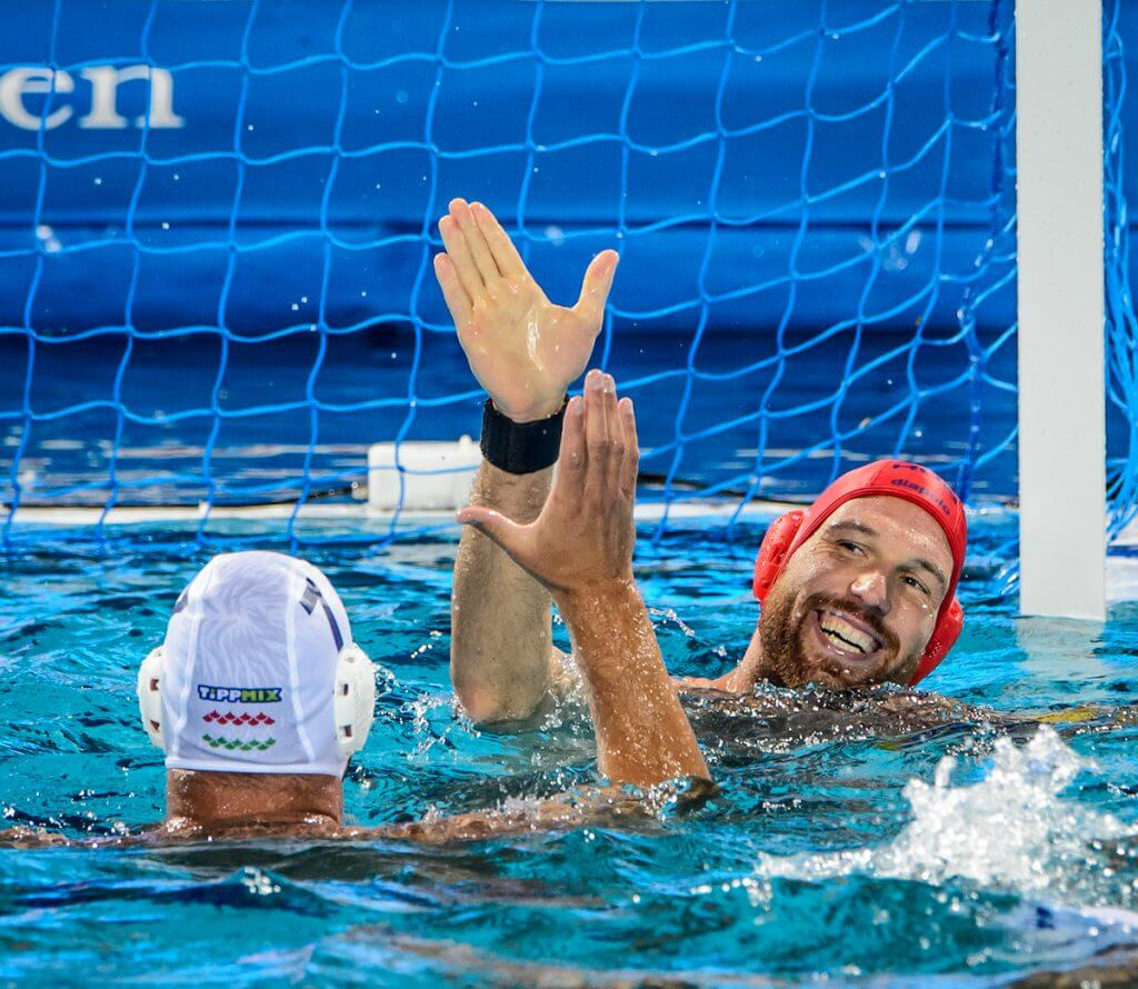 25-07-2017: Waterpolo: Hongarije v Rusland: Boedapest (L-R) during the waterpolomatch between men Hungary and Russia at the 17th FINA World Championships 2017 in Budapest, Hungary Photo / Foto: Gertjan Kooij